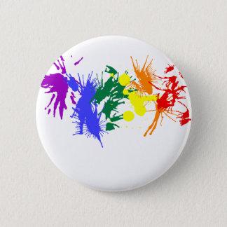 Badge Rond 5 Cm Peinture de gay pride