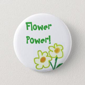 Badge Rond 5 Cm Peinture puérile simple d'aquarelle de fleur