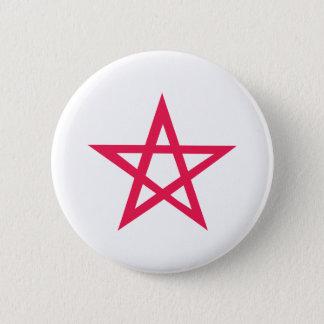 Badge Rond 5 Cm pentagone étoilé pourpre de pentagramme