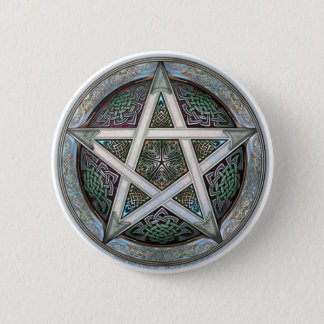 Badge Rond 5 Cm Pentagramme