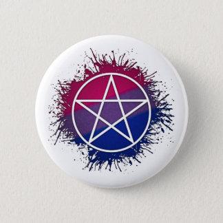 Badge Rond 5 Cm Pentagramme bisexuel de fierté