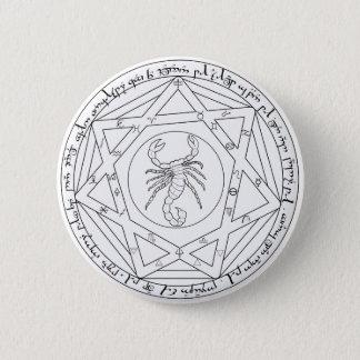 Badge Rond 5 Cm Pentagramme grand