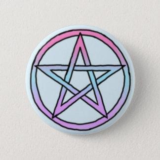 Badge Rond 5 Cm Pentagramme/pentagone étoilé en pastel