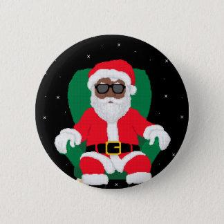 Badge Rond 5 Cm Père Noël dans l'espace