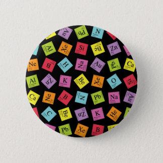 Badge Rond 5 Cm Périodiques élémentaires (foncé)