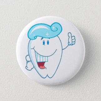 Badge Rond 5 Cm Personnage de dessin animé de sourire de dent avec