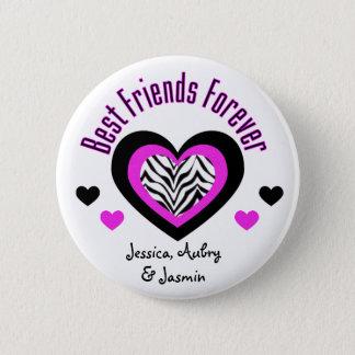 Badge Rond 5 Cm Personnalisé : Meilleurs amis pour toujours :
