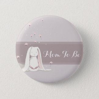 Badge Rond 5 Cm Petit bouton II de baby shower de lapin