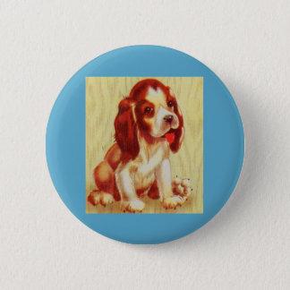Badge Rond 5 Cm petit chiot mignon de beagle