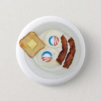 Badge Rond 5 Cm Petit déjeuner de Pro-Obama 2012