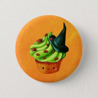 Badge Rond 5 Cm Petit gâteau de Halloween complètement des