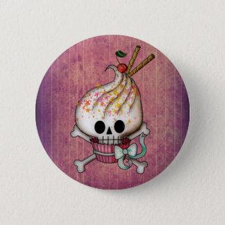 Badge Rond 5 Cm Petit gâteau doux et mortel de crâne