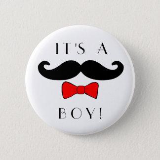 Badge Rond 5 Cm Petit homme c'est une moustache de garçon et un