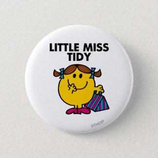 Badge Rond 5 Cm Petit lettrage noir de Mlle Tidy  