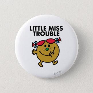 Badge Rond 5 Cm Petit lettrage noir de Mlle Trouble  