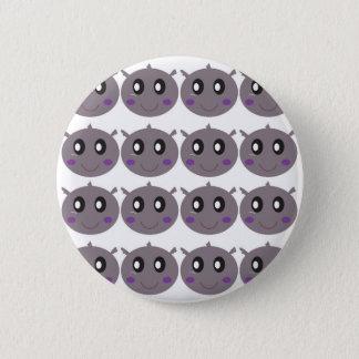 Badge Rond 5 Cm Petite conception mignonne d'hippopotames