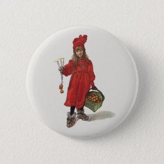 Badge Rond 5 Cm Petite fille suédoise Brita de Carl Larsson comme