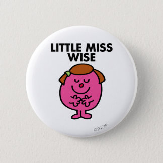 Badge Rond 5 Cm Petite Mlle contemplative Wise