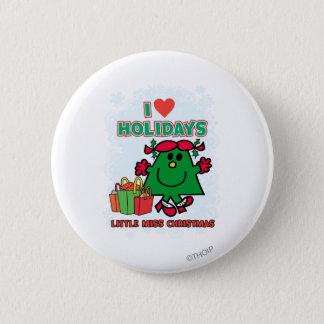 Badge Rond 5 Cm Petites vacances d'amour de Mlle Christmas   I