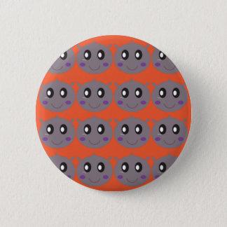 Badge Rond 5 Cm Petits hippopotames mignons sur l'orange