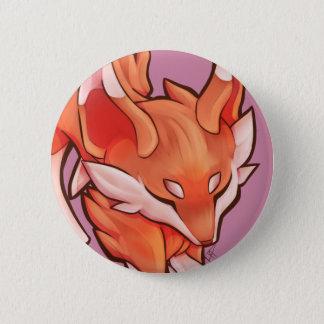 Badge Rond 5 Cm Peu de bouton de Fox