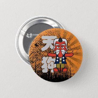 Badge Rond 5 Cm Peu de grunge de Daitengu Yokai