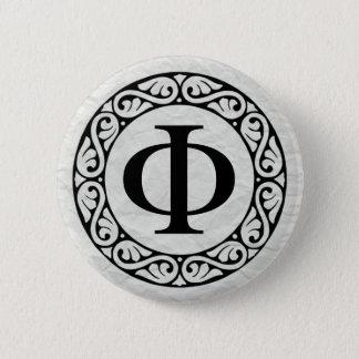 Badge Rond 5 Cm Phi de lettre d'alphabet grec
