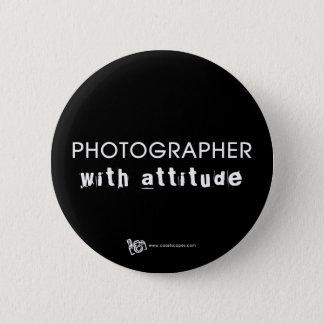 Badge Rond 5 Cm Photographe avec l'attitude v.1