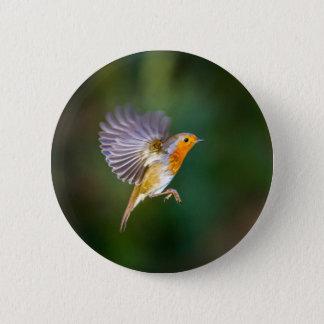 Badge Rond 5 Cm Photographie planante de merle sur un insigne
