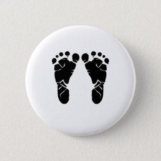 Badge Rond 5 Cm Pieds de bébé