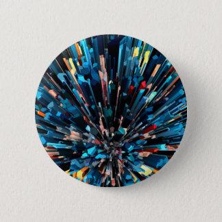 Badge Rond 5 Cm Piles tridimensionnelles de couleur