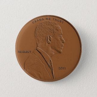 Badge Rond 5 Cm Pin 2011 de bouton de penny de Barack Obama