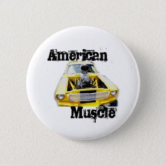 Badge Rond 5 Cm Pin américain de muscle