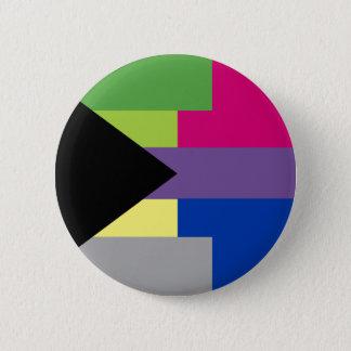 Badge Rond 5 Cm Pin bisexuel de Demiromantic