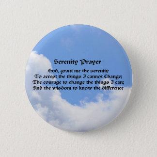 Badge Rond 5 Cm Pin de bouton d'affirmation de ciel bleu de prière