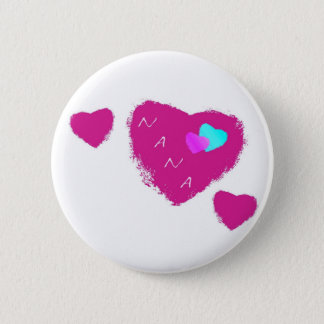 Badge Rond 5 Cm Pin de coeurs de Nana