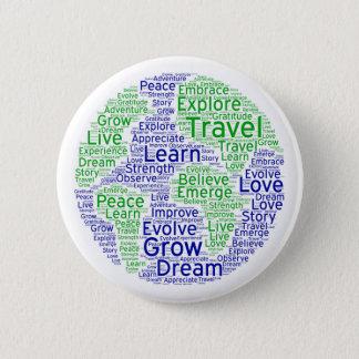 Badge Rond 5 Cm Pin de globe de voyage