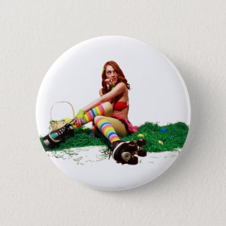 Badge Rond 5 Cm Pin de Pâques