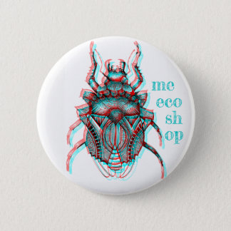 Badge Rond 5 Cm Pin de scarabée de Meecoshop 3D