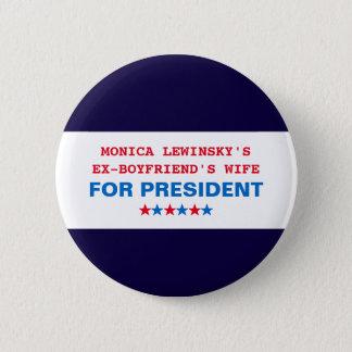 Badge Rond 5 Cm Pin drôle de bouton de Hillary Clinton Monica