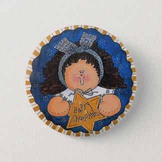 Badge Rond 5 Cm Pin heureux de bouton de Chanukah
