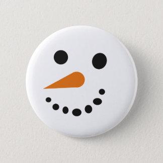 Badge Rond 5 Cm Pin idiot de vacances de bonhomme de neige