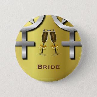 Badge Rond 5 Cm Pin païen lesbien de jeune mariée de pain grillé