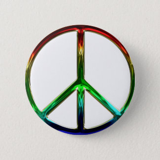 Badge Rond 5 Cm Pin super de bouton de signe de paix