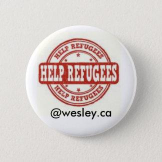 Badge Rond 5 Cm Pin syrien de réfugié