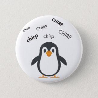 Badge Rond 5 Cm Pingouin Emoji mignon de gazouillement