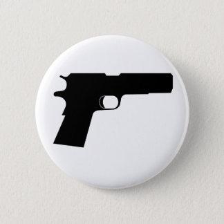 Badge Rond 5 Cm Pistolet