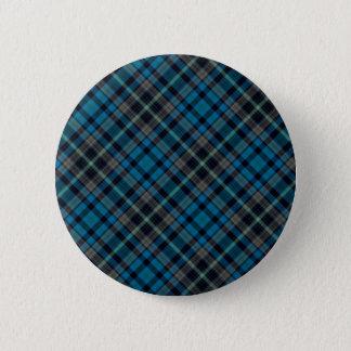 Badge Rond 5 Cm Plaid bleu-foncé