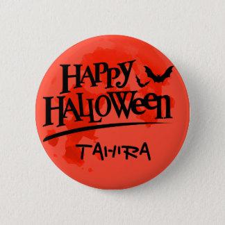 Badge Rond 5 Cm Pleine lune et battes sanglantes de Halloween