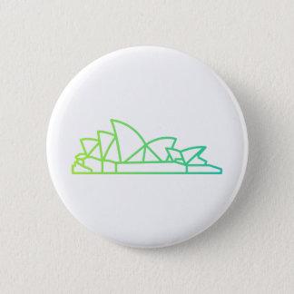 Badge Rond 5 Cm Points de repère - bouton de théatre de l'opéra de
